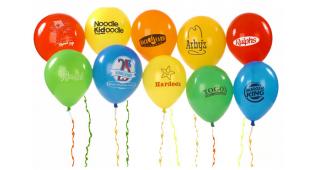 Quảng cáo hiệu quả bằng cách sử dụng bong bóng in logo